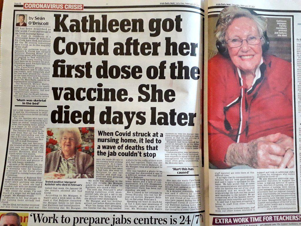 mirtis po vakcinos